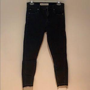 Gap black true skinny ankle jeans
